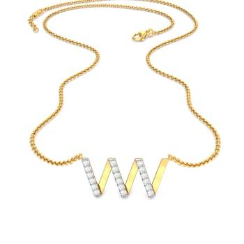 Double U Diamond Necklaces