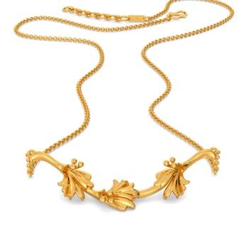 Prairie Coneflower Gold Necklaces