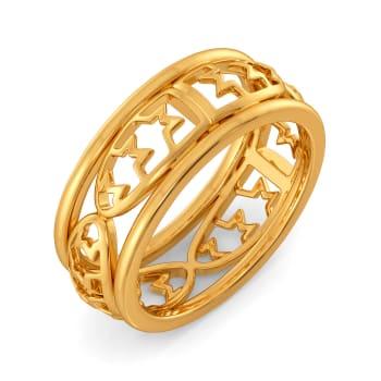 Tweed Season Gold Rings