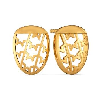 Tweed Season Gold Earrings