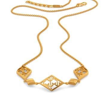 The Tweed Meet Gold Necklaces