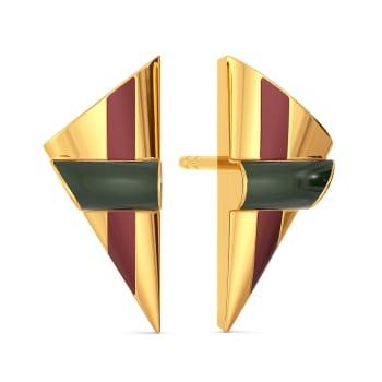 Dual Scholars Gold Earrings