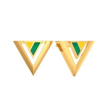 Varsity Greens Gold Earrings