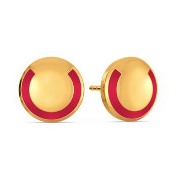 Preppy Patterns Gold Earrings