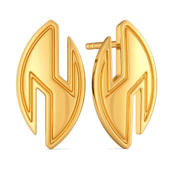 Short Suit Gold Earrings