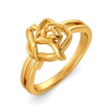 Dark Blooms Gold Rings