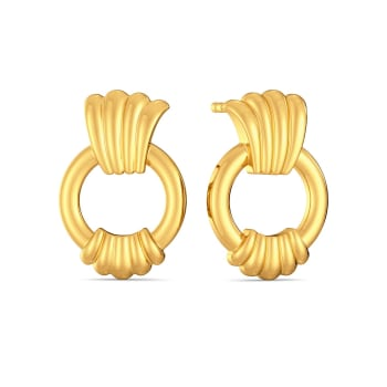 Ring-A-Ding Gold Earrings