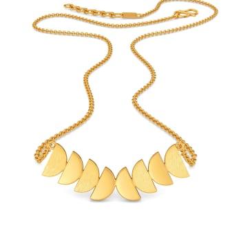 Follow up Sequins Gold Necklaces