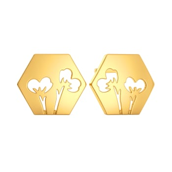 Scarf It Up Gold Earrings