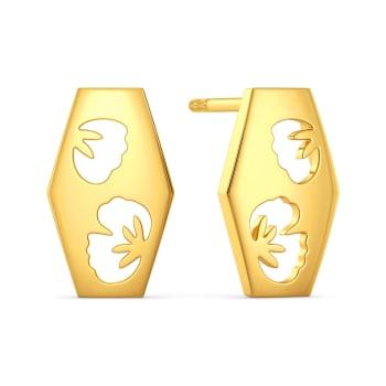 Scarf Knots Gold Earrings