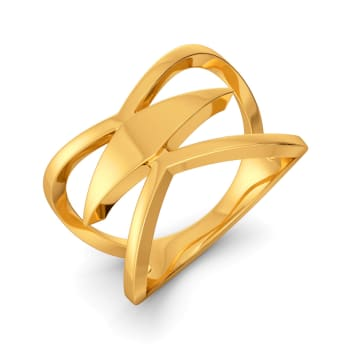 Bell Bottomed Gold Rings