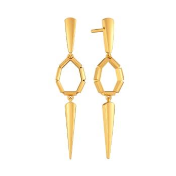 Power Dapper Gold Earrings