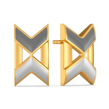 Decked At Desk Gold Earrings