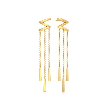 Exaggerated Drama  Gold Earrings
