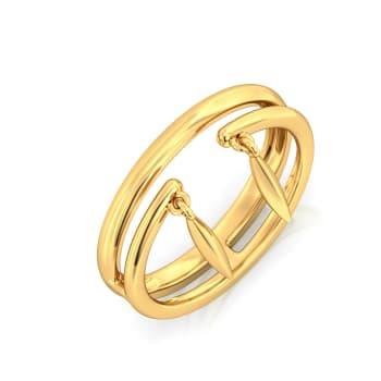 The Lens Prance Gold Rings