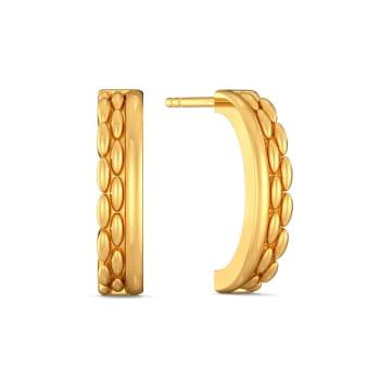 Knobble Bauble Gold Earrings