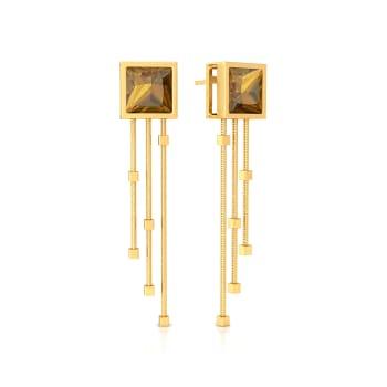 Linear Swing Gemstone Earrings
