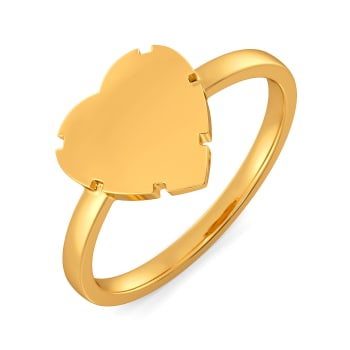 Fantasy Heart Gold Rings