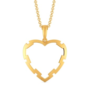 Fantasy Heart Gold Pendants