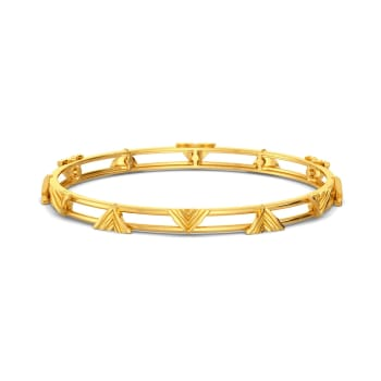 Stripe Type Gold Bangles