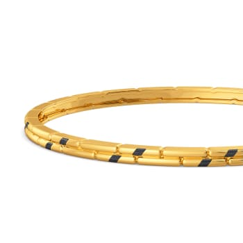 Black Beauty Gold Bangles