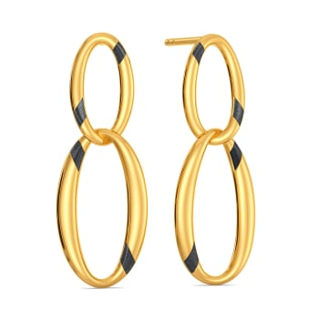 Black N Gold Gold Earrings