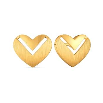 Hearts in Bougie Gold Earrings