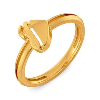 Heart Poise Gold Rings