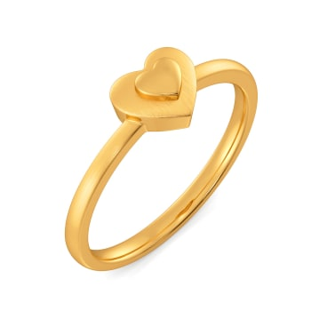 Mon Amour Gold Rings