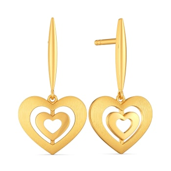 Couches d'amour Gold Earrings
