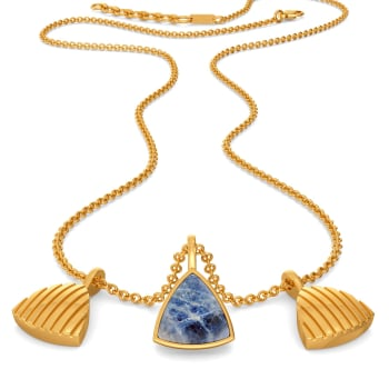 Hippie Denim Gemstone Necklaces