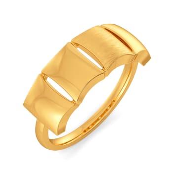 Carre Crush Gold Rings