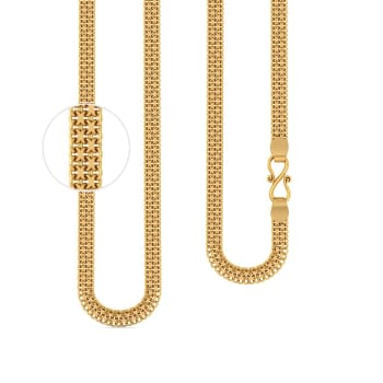 22kt Three Strand Flat Cable Chain Gold Chains
