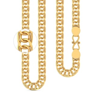 22kt Intertwined Triple Link Chain Gold Chains