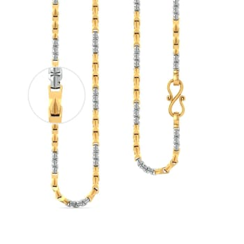 22kt Dual Tone Wheat Link Chain Gold Chains