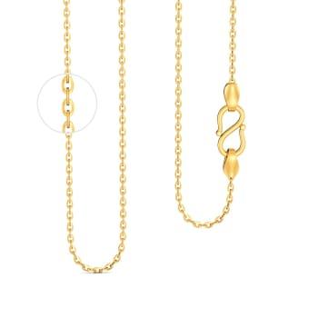 18kt Medium Flat Anchor Chain Gold Chains