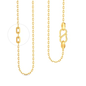 18kt Slender Anchor Chain Gold Chains