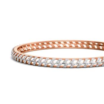 Rosy Slopes Diamond Bangles