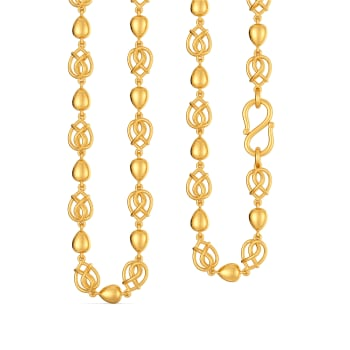 Seal of Spade Gold Chains