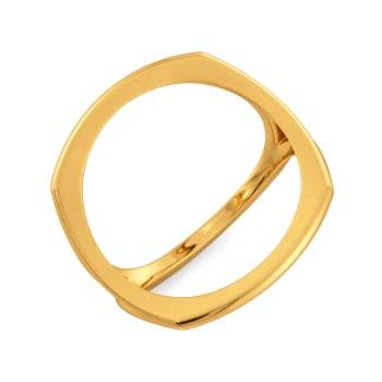 Itty Bitty Pretty Gold Rings