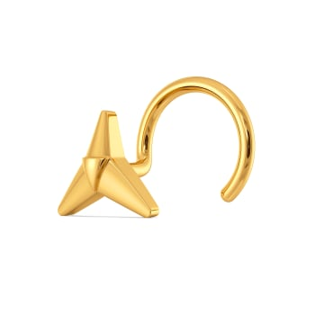 Trio Tryst Gold Nose Pins