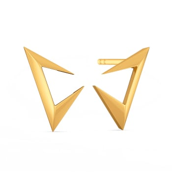 Suit Strong Gold Earrings