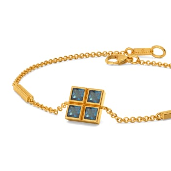 Blue Blocks Gemstone Bracelets