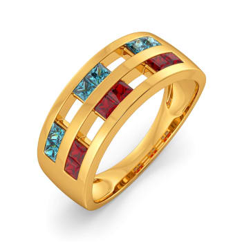 Mod N Retro Gemstone Rings