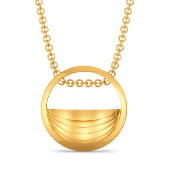 Button Up Gold Pendants