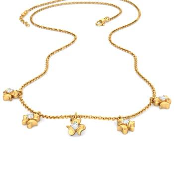 Flower Power Diamond Necklaces