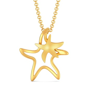 Star Shell Gold Pendants