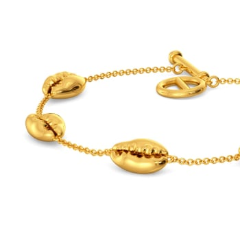 Shell Shocks Gold Bracelets
