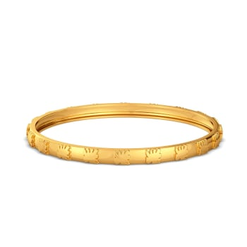 Rhomb Palm Gold Bangles