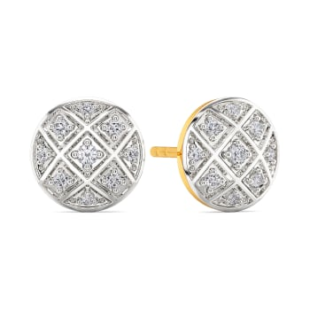 The Check Deck Diamond Earrings